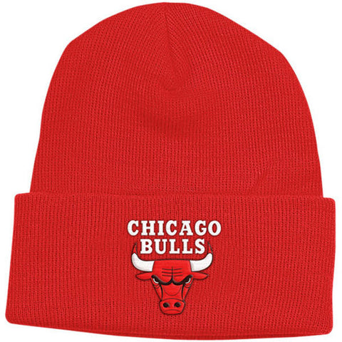 CHICAGO BULLS ADIDAS CUFF BEANIE IN RED