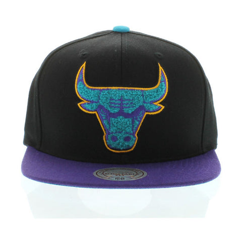 CHICAGO BULLS MITCHELL & NESS AQUA 8 SNAPBACK HAT