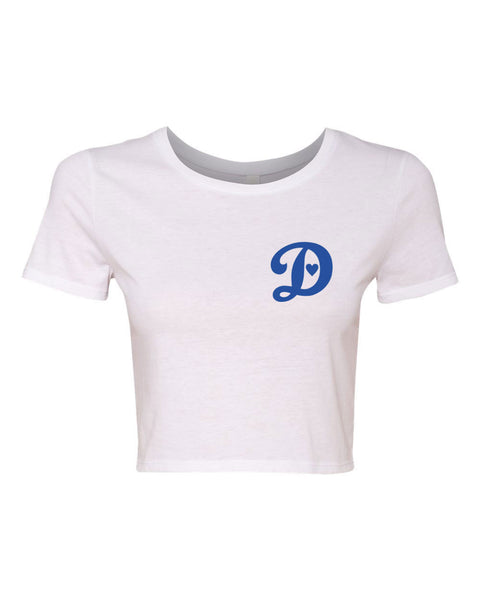 DODGERS LOVE - WOMEN'S CROP T-SHIRT