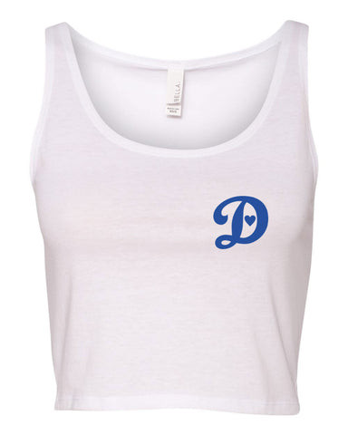 DODGERS LOVE - WOMEN'S CROP TANK