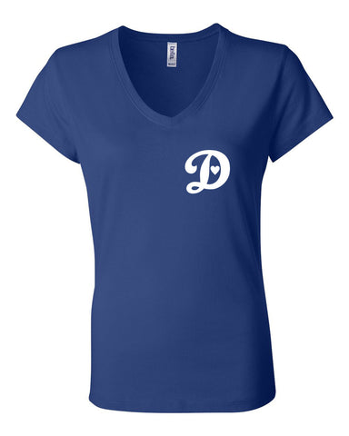 DODGERS LOVE - WOMEN'S V-NECK T-SHIRT