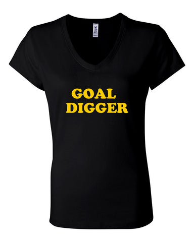 GOAL DIGGER - WOMEN'S V-NECK T-SHIRT