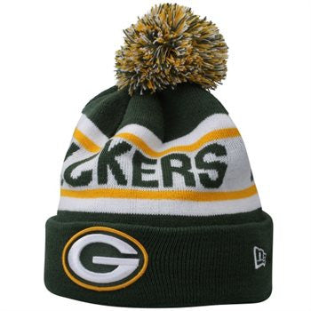 NEW ERA GREEN BAY PACKERS BIGGEST FAN REDUX KNIT BEANIE WITH POM