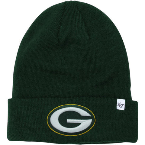 GREEN BAY PACKERS 47 BRAND BEANIE CAP IN GREEN