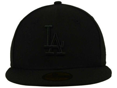 LOS ANGELES DODGERS NEW ERA 59FIFTY FITTED HAT IN BLACK/BLACK