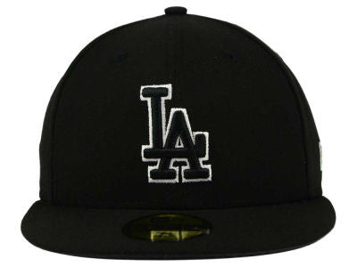 LOS ANGELES DODGERS NEW ERA 59FIFTY FITTED HAT IN BLACK/WHITE