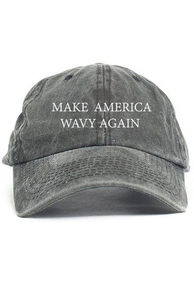 MAKE AMERICA WAVY AGAIN UNSTRUCTURED DAD HAT