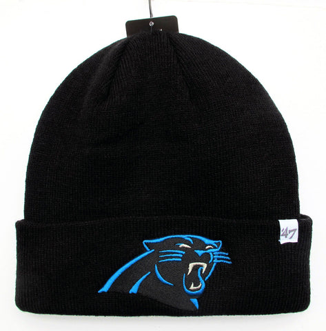 CAROLINA PANTHERS 47 BRAND BEANIE CAP IN BLACK
