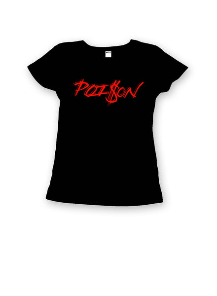 theSTASH WOMENS POISON T-SHIRT IN BLACK