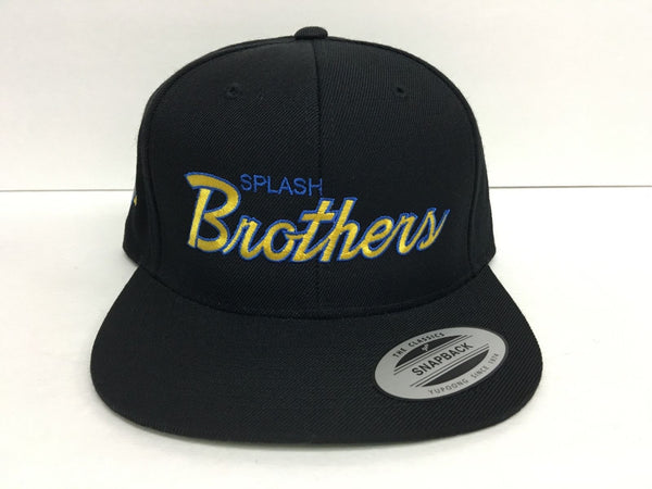 theSTASH CO SPLASH BROTHERS SNAPBACK HAT IN BLACK