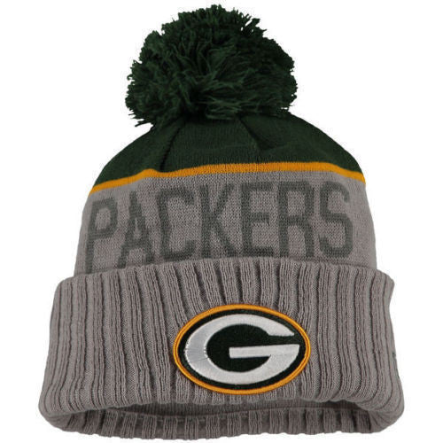 NEW ERA GREEN BAY PACKERS ALTERNATE GRAY BEANIE WITH POM