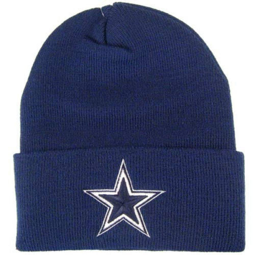 DALLAS COWBOYS CUFF KNIT BEANIE IN NAVY BLUE