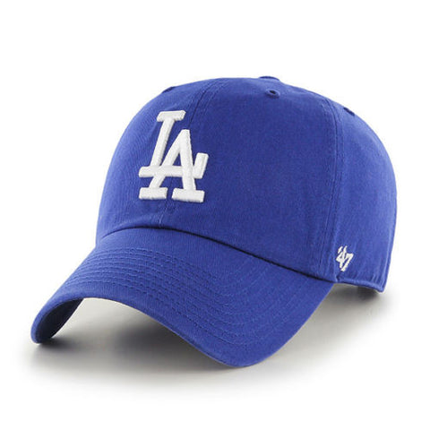 LOS ANGELES DODGERS 47 BRAND CLEAN UP DAD CAP IN BLUE