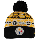 NEW ERA PITTSBURGH STEELERS RETRO CHILL BEANIE WITH POM