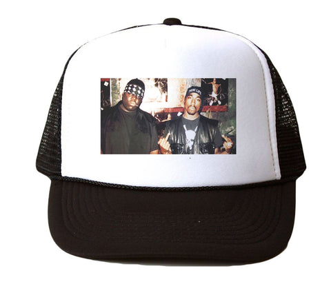 2PAC AND BIGGIE TRUCKER HAT