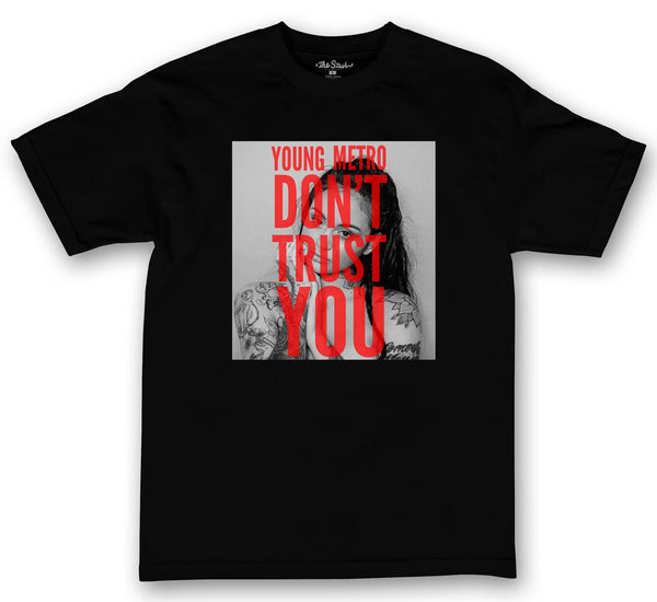 theSTASH YOUNG METRO DON'T TRUST YOU KEHLANI T-SHIRT IN BLACK