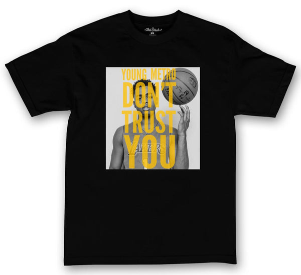 theSTASH YOUNG METRO DON'T TRUST YOU D'ANGELO T-SHIRT IN BLACK