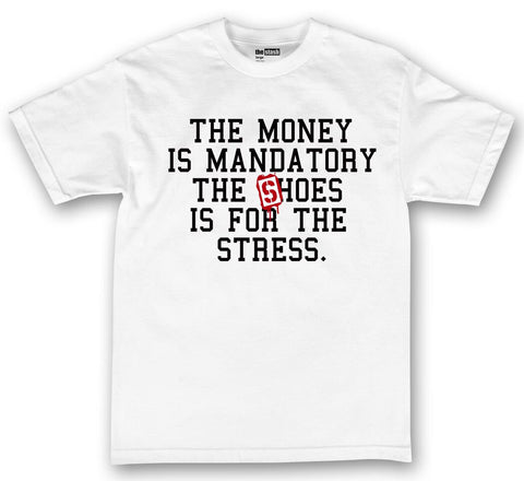 theSTASH MANDATORY T-SHIRT IN WHITE