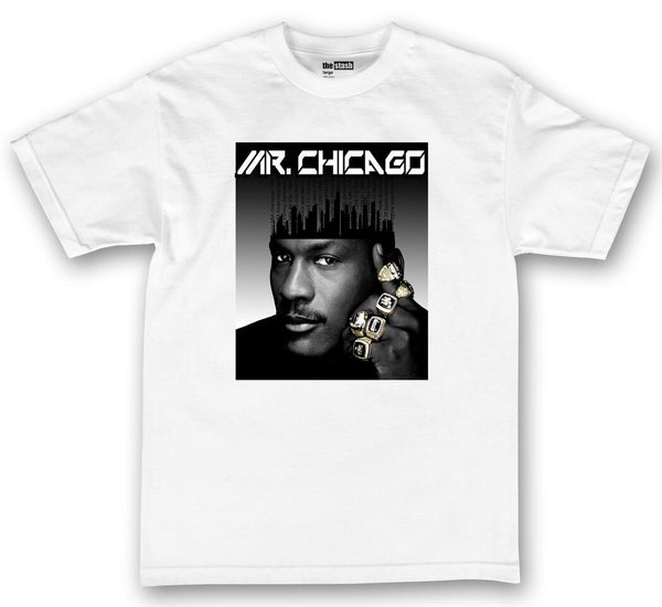 theSTASH MR CHICAGO T-SHIRT IN WHITE