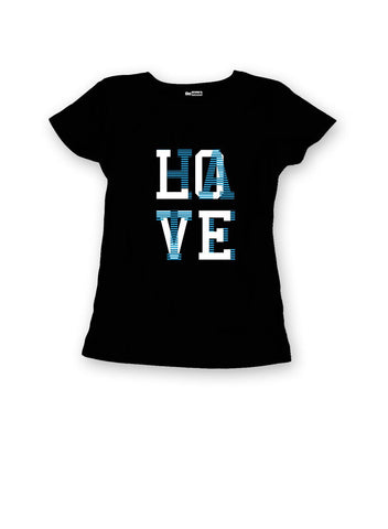 theSTASH WOMENS LOVE/HATE T-SHIRT IN BLACK