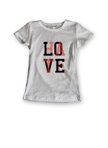 theSTASH WOMENS LOVE/HATE T-SHIRT IN WHITE