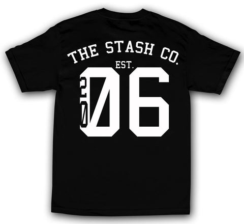 theSTASH ESTABLISHED T-SHIRT IN BLACK