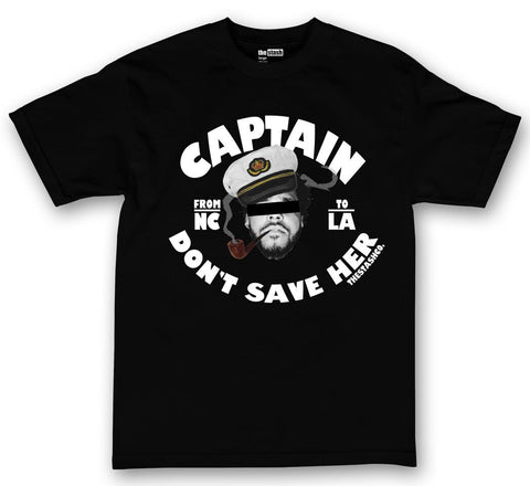 theSTASH CAPTAIN DON'T SAVE HER T-SHIRT IN BLACK
