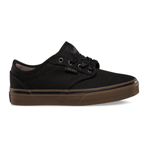 VANS KIDS ATWOOD CANVAS IN BLACK/GUM