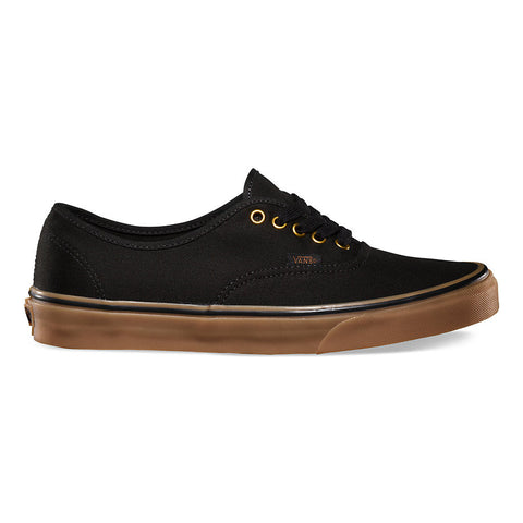 VANS CANVAS AUTHENTIC IN BLACK/RUBBER