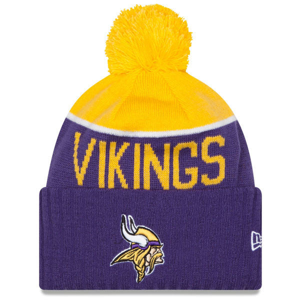 NEW ERA MINNESOTA VIKINGS 2015 ON-FIELD SPORT KNIT HAT WITH POM