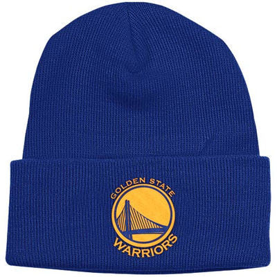 GOLDEN STATE WARRIORS ADIDAS CUFF BEANIE IN BLUE