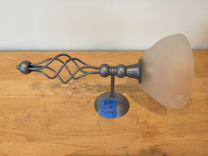7776 - H - Candle Light Fixture Wall Mount -- Pewter Base with Upper Frosted Globe