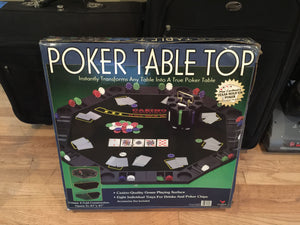 7867  - H - Poker Table Top -8 players - Folds Up - with Drink & Chip Holders