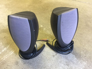 7906 - E - Black & Grey Speaker Set - Sound Quality is Exceptional - Excellent Un-Used Condition