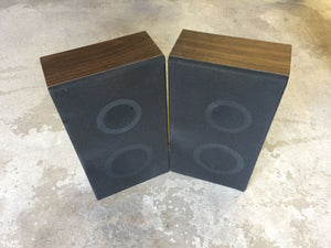 7910 - E - Dark Oak Speaker Set with Black Cover - 8 x 14-3/4 x 4 - Used Condition