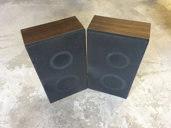 7910 - E - Dark Oak Speaker Set with Black Cover