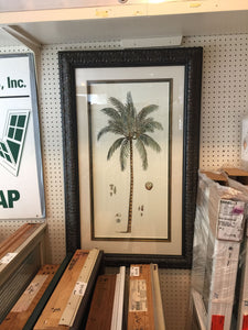 7968 - A - South Pacific Palm Tree Abstract Print - Exquisitely Framed & Matted
