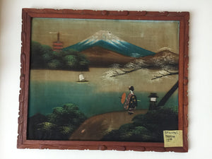 8137B - Oriental Painting on Silk - Geisha - Lake Movatmi