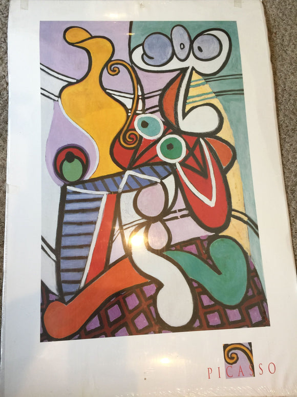 8143 - A - Picasso Print- French Abstract - 24 x 36 Poster