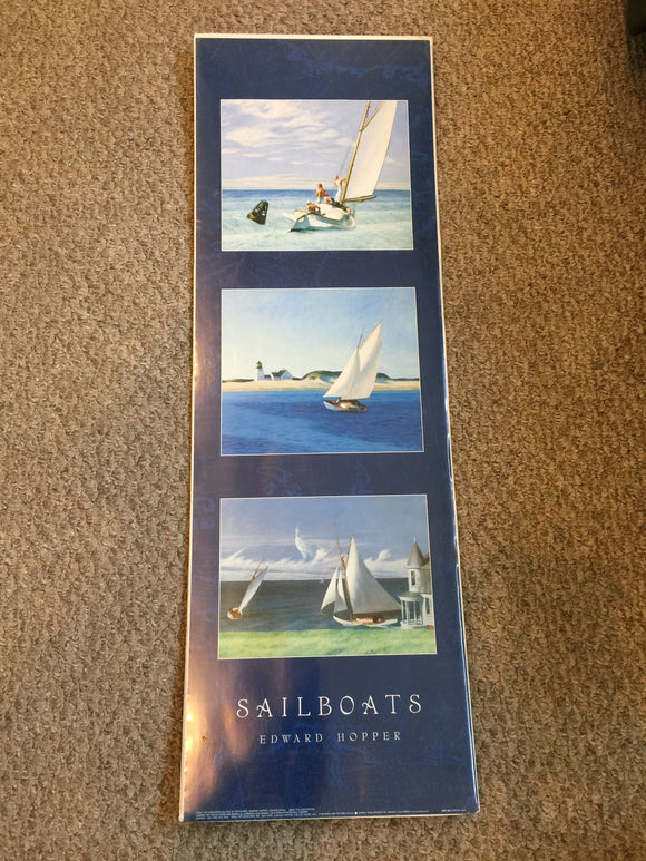 8769 - A - Litho - Sailboats - Edward Hopper - ARV739 - 2001