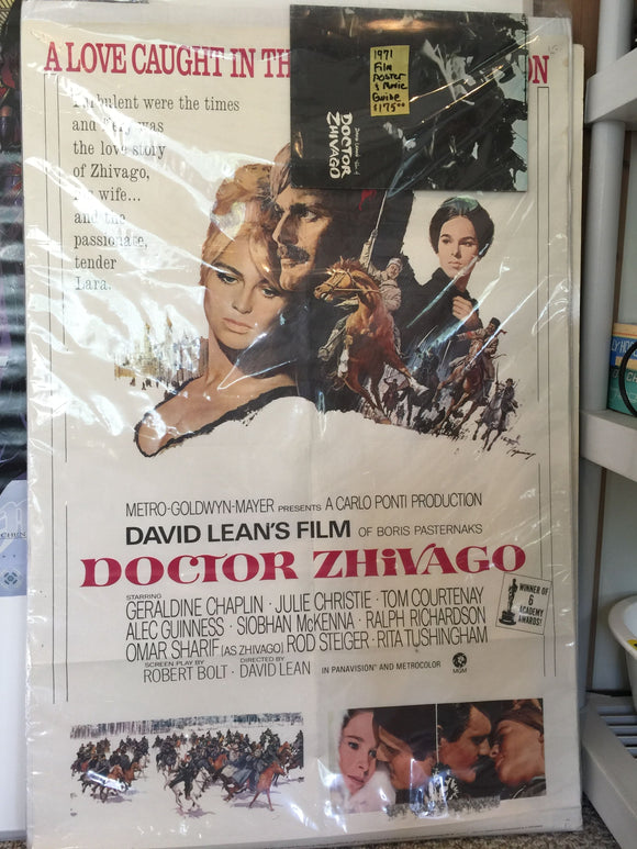 8232 - A - 1971 Doctor Zhivago Film Poster & Movie Guide