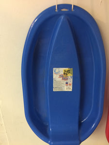 8250 - SP - One Man Heavy Plastic Blue Sled - Downhill sledding or Pulling People, Pets or items