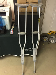 8254 - H - Aluminum Crutches - Adjustable