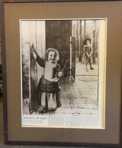 "8286 - A - Old Print of the ""Infancy of Golf"" Framed & Matted -""In-Store PICK-UP Only on this Item"""