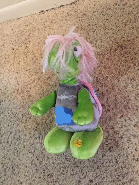 8302 - T - Green & Pink Stuffed Doll Named Albert - Cute and Playful