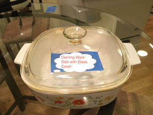 8344 - H - Corningware Dish with Glass Cover -