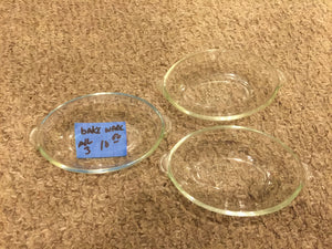 8374 - H - 3-Glass Bakeware Dishes