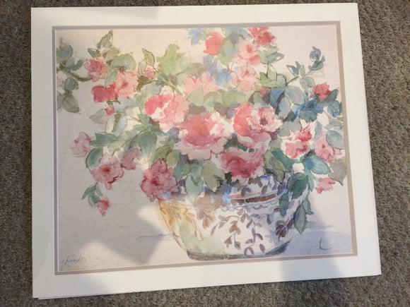 8379 - A - Floral Arrangement in a Vase - Lithograph - Nancy Lund - 24