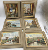 8427 - A - Paintings - Artist Petrilly - Originals Signed - Set of 6