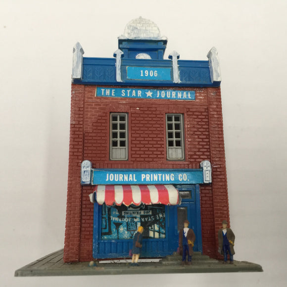 8444 - T - The Star Journal Printing Company with Clock Tower - N Scale